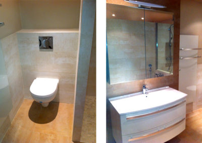 Rénovation salle de bain à Dommeldange